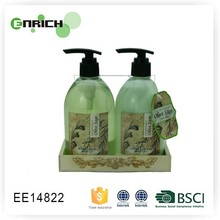 Wholesale Wooden Caddy Bath Gift Sets with hand wash and hand lotion