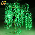 Artificial willow tree with lights for outdoor garden decoration