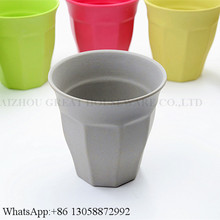 Non-toxic Natural Bamboo Fiber Drinking Water Cups 100% Melamine Mugs