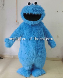adult size seasame street cookie monster mascot costume adult cookie monster cost...