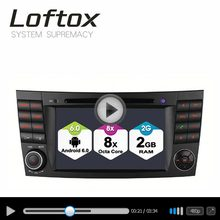 Loftox Android 6.0 Octa Core 32GB ROM Car GPS Navigation System for E-Class W211 Support DAB OBD