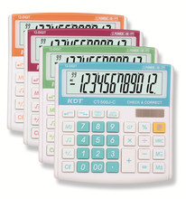 12 digits high quality electronic calculator with solar cell