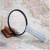 OEM Plastic Handhold 70# magnifying glass with light