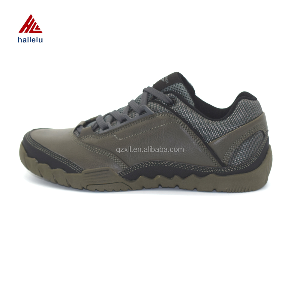 Men Lace Up Cheap Mould Injection Leather Sport Shoes OEM Custom Running Athletic Hombre Sneakers