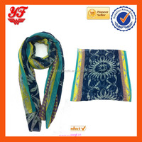 Long Style Wrap Women's Fashion Scarf amoeba Print Voile Scarves with multi color