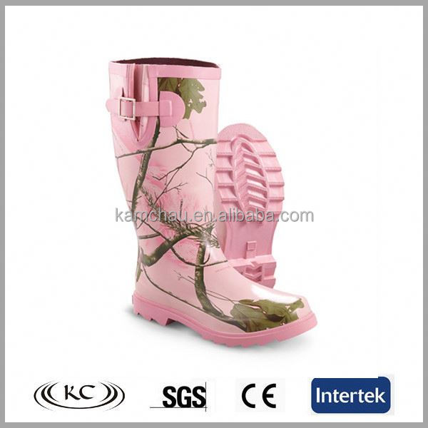 new high quality waterproof knee cheap camo rubber boots