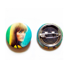 Custom Design Cloth Fabric Tin Button Badge, Factory Metal Button