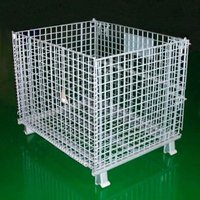 JS High quality folding grille box, storage cage