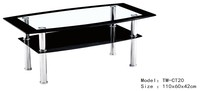 cheap home furniture glass top aluminum leg coffee table for sale,teapoy coffee table CT20