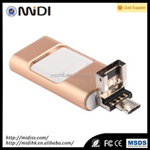 New Arrival 3 in 1 4GB-128GB Metal OTG USB Flash Drive