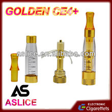 Aslice Golden ego CE4+ 2014 new design clearomizer ego t ce4 ce5 ce6 ce7 ce8 ce9 atomizer 1300mah starter kit
