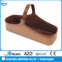luxury high quality pu leather wine carrier for home