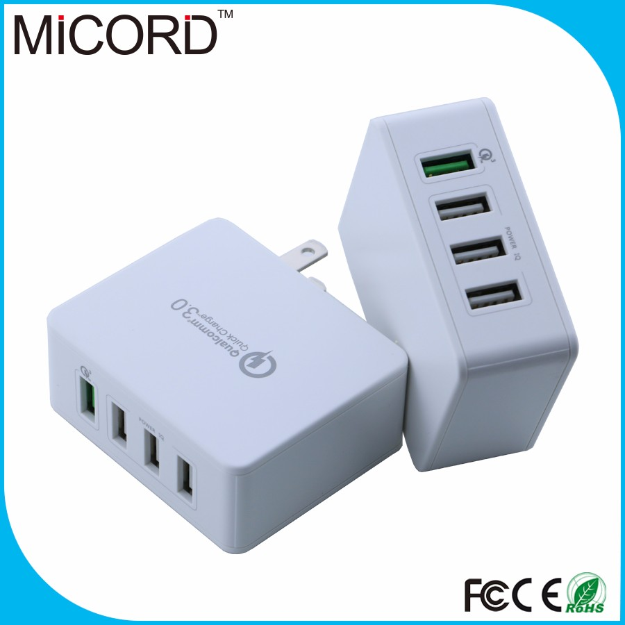 2016 Hot sale Qualcomm Quick Charge 3.0 4 ports USB Wall Charger QC3.0 Travel charger home charger