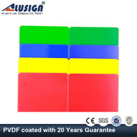 Alusign smooth/even flat pvdf/pe aluminium composite panel sheet for construction buildings