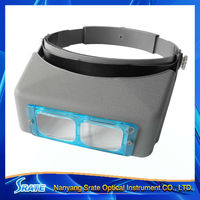MG81007-B 1.5X/2X/2.5X/3.5X Optivisor Headband Magnifier With Glass Lens Plates