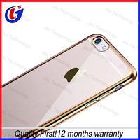 China factory OEM LOGO printing custom design cheap soft clear transparent TPU mobile phone case for iphone 6 6s