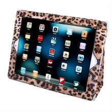 NEW Leopard Print Leather Magnetic Smart Stand Case Stand for iPad 2 3 4