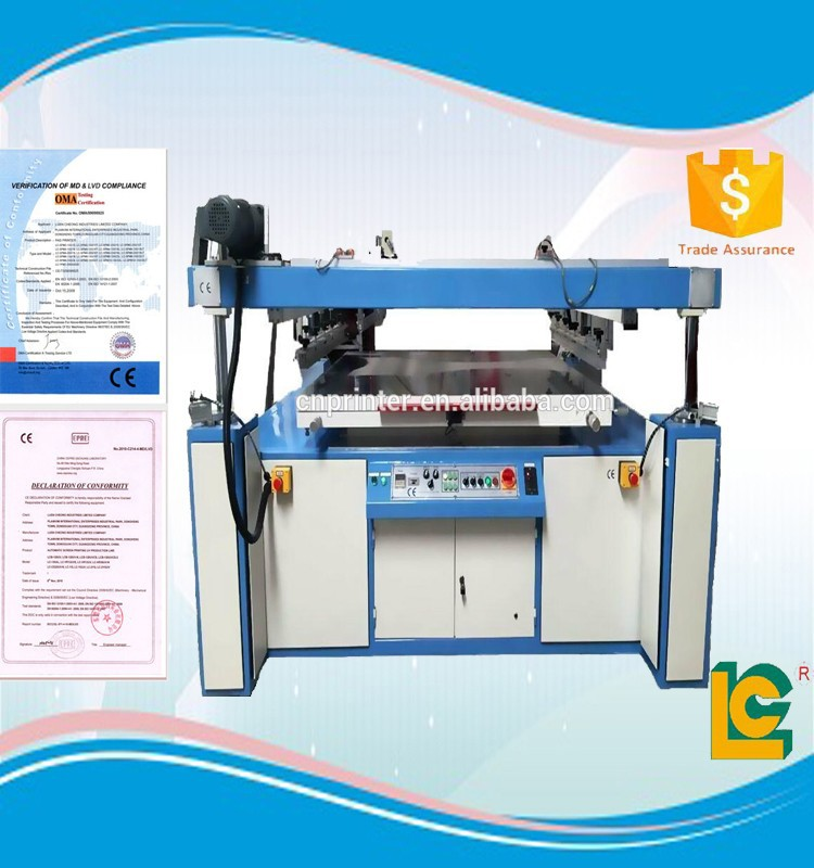 Structural disabilities large format flatbed vacuum silk screen printer for large items LC-1200PL