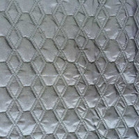 velboa/polyester embroidered thermal padded fabric with quilting for down coats/jacket