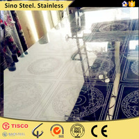 Decorative 4x8 no 8 mirror finish stainless steel sheet