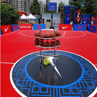 Portable Outdoor PP Plastic Interlocking Removable Basketball Court Sports Flooring for Basketball Court
