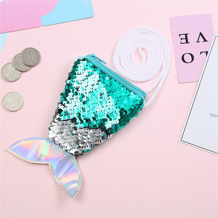 2019 Hotsale Kids Sequin Mermaid Tail Bag