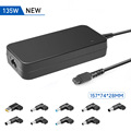 135W - 120w universal laptop adapter, auto voltage power supply for Gaming notebook with 9 DC tips