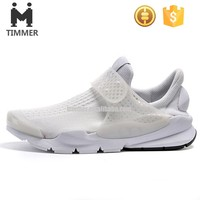 TPR outsole material sneakers flyknit mesh upper running shoes for men