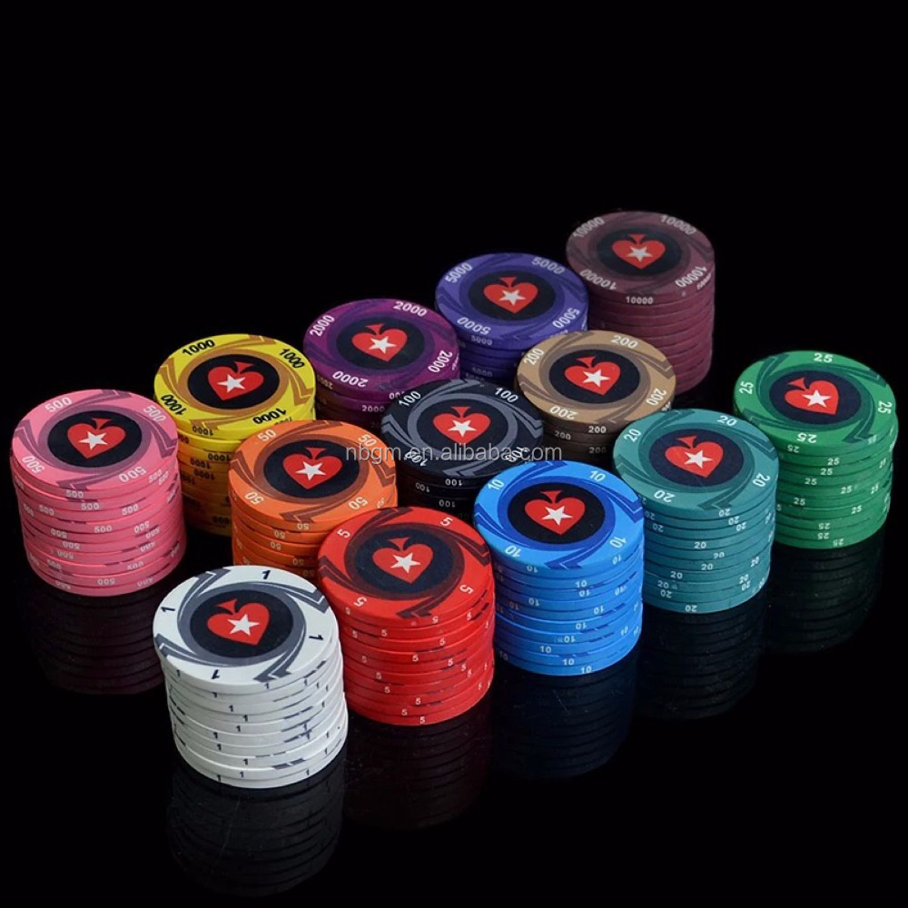 10g custom design ceramic poker chip/casnino quality ceramic poker chip