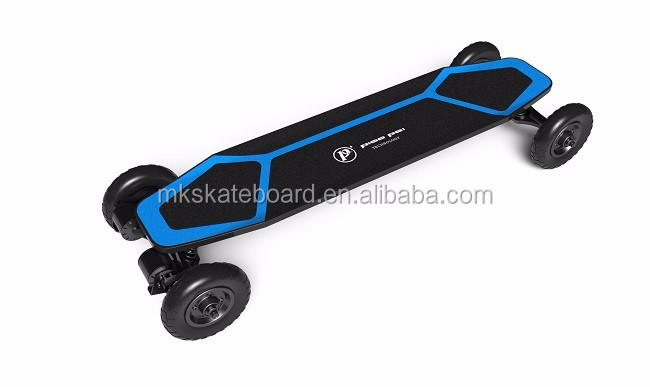 Outdoor powerfull 4 wheels dual motor electric skateboard factory