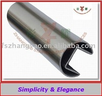 Inox stainless steel hand rail slotted tube supplier