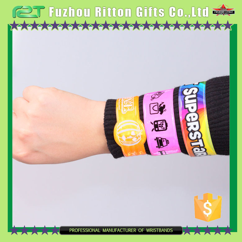 New promotional Professional custom ruler slap bracelet