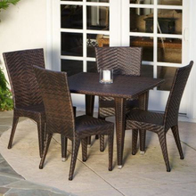 TX-D04 Simple rattan dining set 5-piece for sweet family time in patio