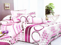 hot sale and high quality 100% cotton geometric printing 4pcs duvet cover set made in china