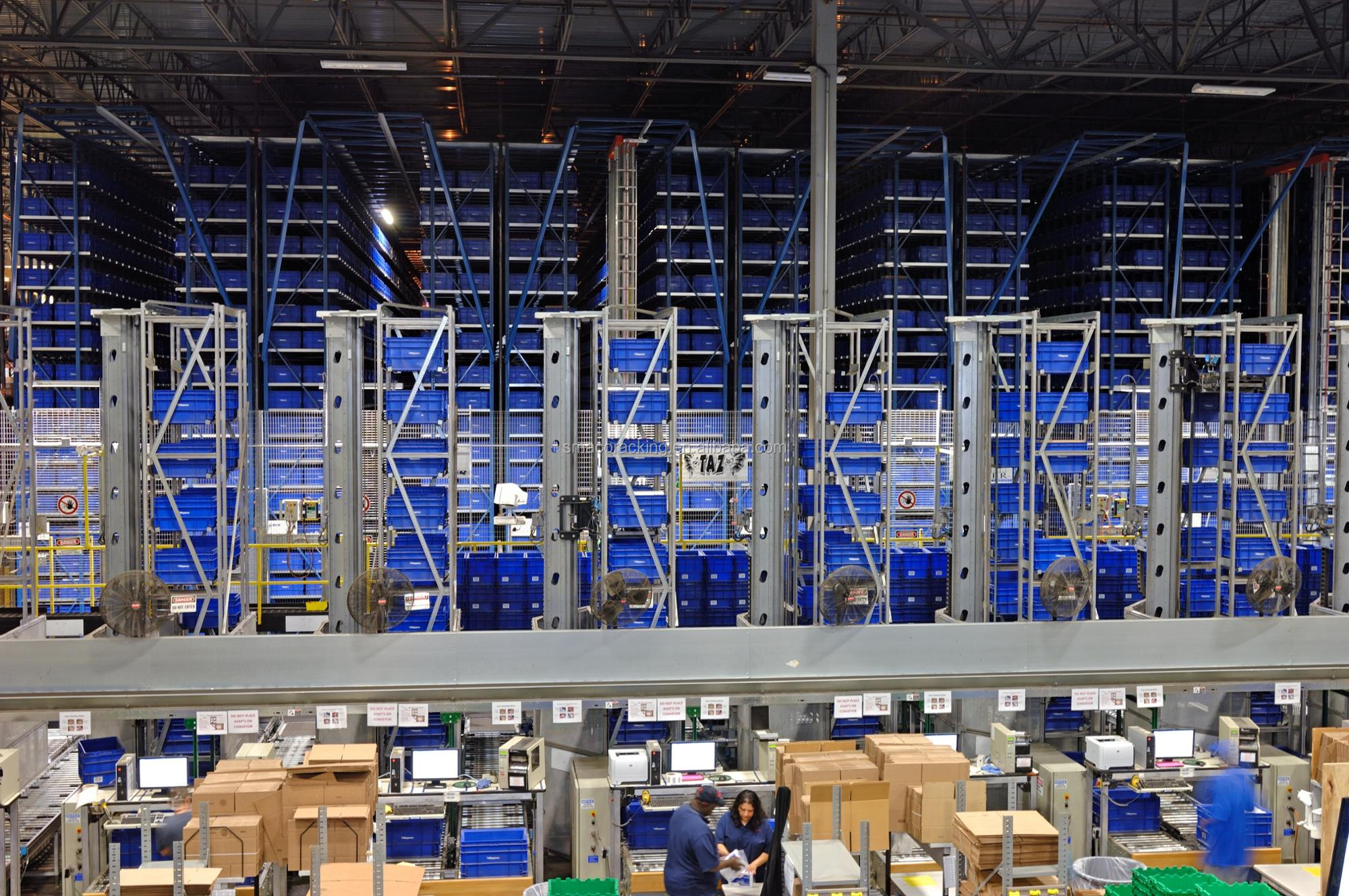 Rapid Warehouse Mini Load AS/RS Shelving Automatic Racking System