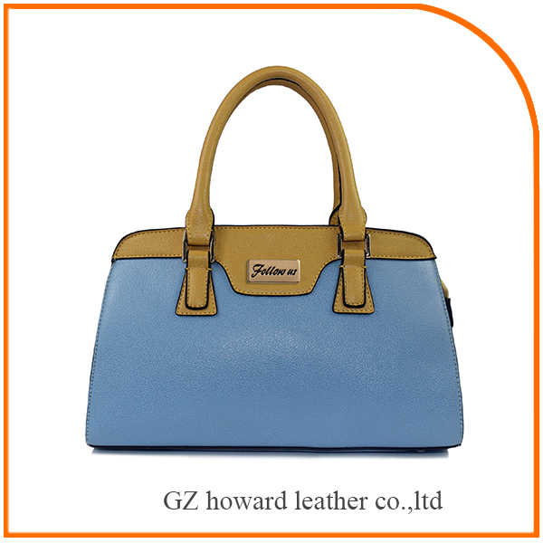High quality pu leather handbag elegance lady handbag