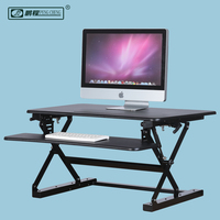 Home Office Furniture Gas Spring Fully Assembled Office Computer Sit Stand Table