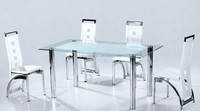 dining room furniture glass dining table set with 4 chairs