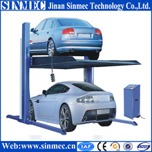 SinmecTwo Level 2 Post Tilt Parking Lift/ double stack parking system/ hydraulic car park lift