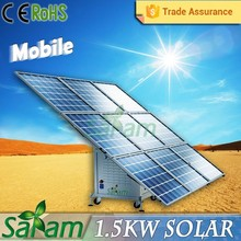 Mobile easy-handling 1500w solar power station