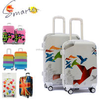 ABS+ PC Colourful Travel Trolley Luggage Bag