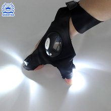 Alibaba Flashlight Magic Strap Fingerless Led gloves for Repairing and Working in Darkness
