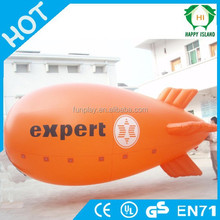 HI reasonable price 0.8mm PVC rc helium airship,zeppelin airship,square helium balloon