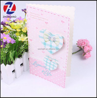 Hot sell popular latest heart shape handmade greeting card
