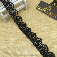 2.5cm Width Lace Polyester 100% Chemical Choker Lace Trim Guipure Lace