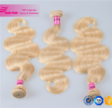 Fashion color 613# brazilian virgin remy hair extension blonde crochet braid hair