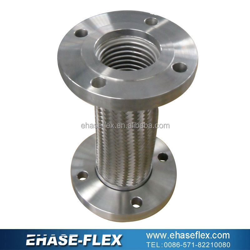 Stainless steel flexible braided metal hose pump connector