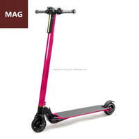 Wholesale carbon fiber lightest 2016 500W motor sports toys electric scooter for leisure time MAG