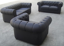 modern hotel loveseat inspired by Chesterfield
