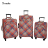 Dubai Markets Lady Style Design Hot Sale PVC Material Real Push Spinner Wheel China Factory Trolley Travel Luggage Bags